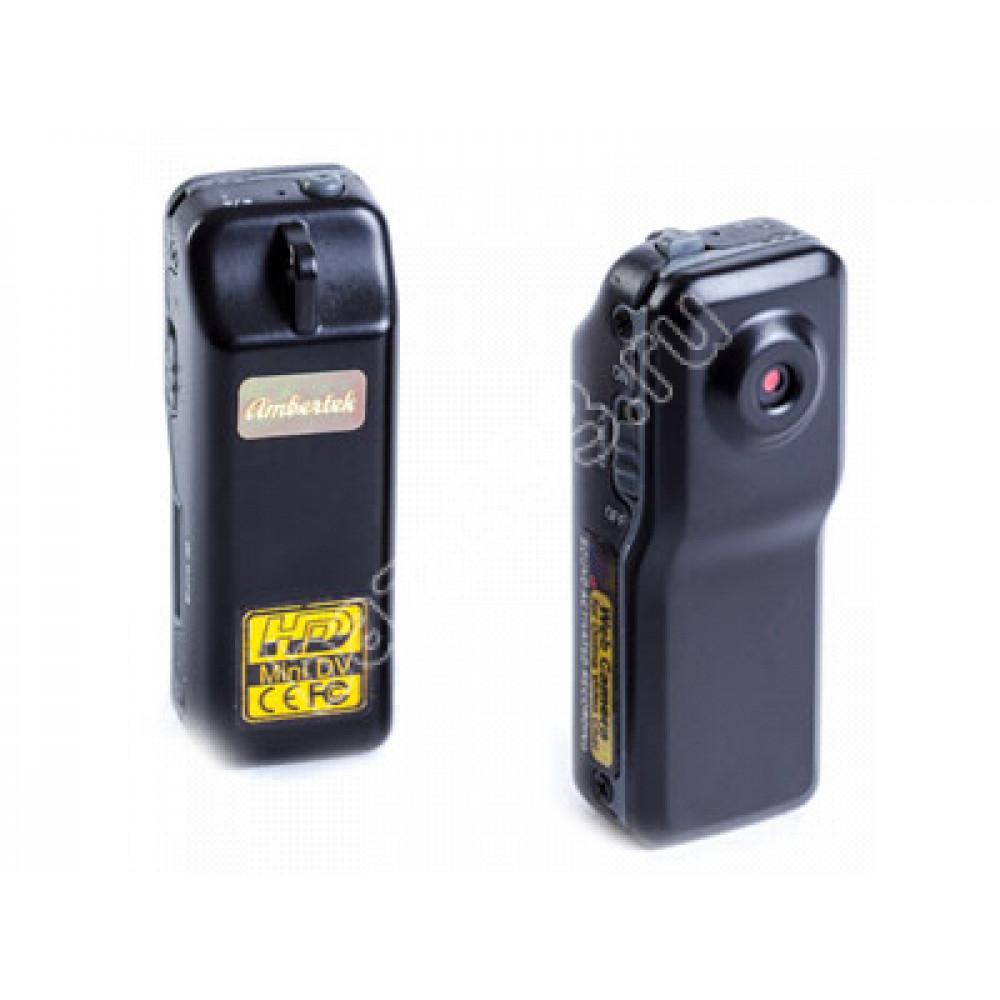 Мини видеокамера Ambertek MD80 SE (корпус металл) с датчиком звука и возможностью записи от сети